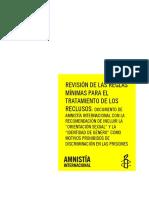 REVISIÓN DE LAS REGLAS MÍNIMAS PARA EL TRATAMIENTO DE LOS RECLUSOS