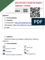 Extensão de captura de tela e criação de imagens - LightShot - ProAlex