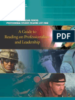 A GUIDE TO READING ON PROFESSIONALISM AND LEADERSHIP - CANADIAN FORCES