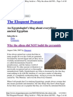 The pyramid was built by human engineers