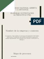 Elaborar sustentación alternativas PML