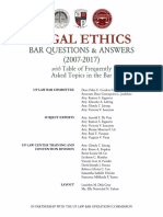 8 Legal Ethics Bar Questions and Answers (2007-2017)
