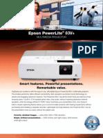 Epson Powerlite-83V+ Specifications