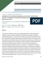 Modulação da microbiota intestinal por berberina e metformina durante o tratamento da obesidade induzida por dieta rica em gordura em ratos _ Relatórios Científicos