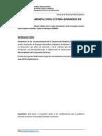 Protocolo AMBAPA Association COVID-19 Gimnasios de Boxeo Argentina