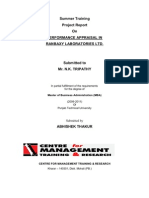 Performance Appraisal - Project Report2