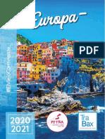 Folleto Pe-Tra Operadora / TraBax - Europa 2020 - 2021