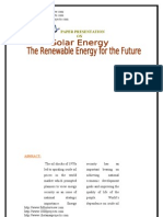 The Renewable Energy for the Future