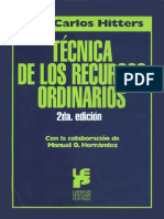 TECNICA DE LOS RECURSOS ORDINARIOS - Hitters, Juan Carlos.pdf