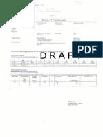 Product certificate  welding wire-model