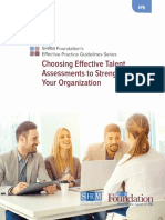 Choosing Effective Talent Assessments to Strengthen Your Organization
