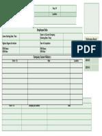 Executive Profile Format