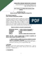 MODELO ESCRITO CORRECCIÓN RESOLUCIÓN JUDICIAL - AUTOR JOSÉ MARÍA PACORI CARI.docx