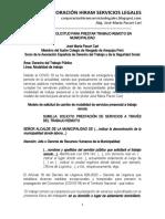 Modelo Solicitud de Trabajo Remoto en Municipalidad - Autor José María Pacori Cari