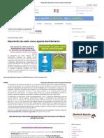 Bioseguridad_ Hipoclorito de sodio como agente desinfectante