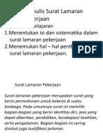 A. Mengidentifikasi Isi dan Sistematika Surat Lamaran Pekerjaan