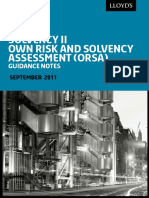 LLOYD'S - Final ORSA guidance Sep11