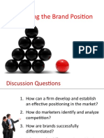 Crafting the Brand Position (Positioning)