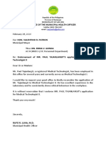 letter for employment promotion