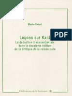 Mario Caimi - Lecons sur Kant.epub