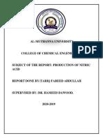 NITRIC ACID PRODUCTION