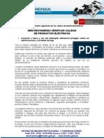 VERIFICACIÓN DE PRODUCTOS ELÉCTRICOS