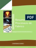 Resumo Processos de Fabrico