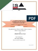 Gestion pratique de la conformité en zone CIMA, Thèse professionnelle, Loïc Armel KENGNE-ESA Paris