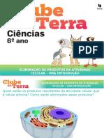 Eliminação de produtos da atividade celular - uma introdução