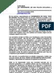 La Dictadura de La Exclusividad en Carabineros de Chile