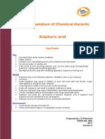 HPA Compendium of Chemical Hazards SULPHURIC ACID v3