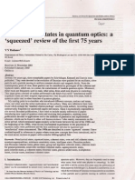 Non Classical States in Quantum Optics