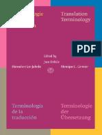 Terminologie de la Traduction_ Translation Terminology. Terminología de la Traducción. Terminologie der Übersetzung.pdf