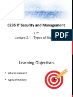 2_C235 LP1 Lecture 2 1 - Types of Malware