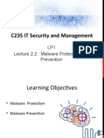 2_C235 LP1 Lecture 2.2 -  Malware Protection and Prevention