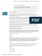 Arrêté n°009 du 29 octobre 2009 instituant une carte de reconnaissance  PME en RDC