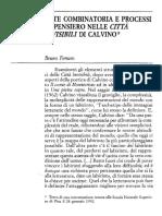Bruno Ferraro - ARTE COMBINATORIA E PROCESSI DI PENSIERO IN ITALO CALVINO