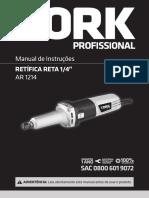 Manual da Retificadeira reta AR1214STIW