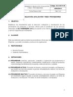 ELV-SST-P 25 SELECCION, EVALUACION Y REEV. PROVEEDORES