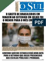 Jornal  O Sul 26.08.2020
