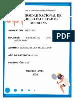 EDUCACIÓN FISICA Y DEPORTE
