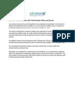 AdvaGenix Study Letter