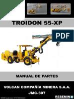 MANUAL DE PARTES TROIDON 55 XP JMC-307