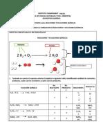Guia de Trabajo Reacciones y Ecuaciones Químicas