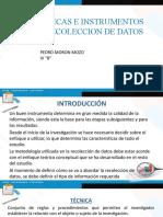 MÉTODOS, TÉCNICAS E INSTRUMENTOS DE RECOLECCION DE DATOS (1)