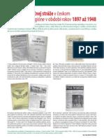 Časopisy finančnej stráže v českom a slovenskom regióne v období rokov 1897 až 1948 (Colné aktuality č. 11 - 12/2010)
