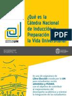 Presentación de la Cátedra Nacional de Inducción UN, periodo 2018 - 1