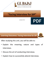 SSP Unit III Interview