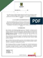 Proyecto Decreto Nueva Realidad en Bogotá