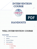 well intervention lecture 01